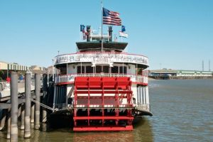 A river steamer on the Mississippi