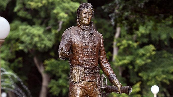 The statue to Lachlan Macquarie