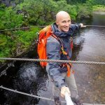 Mark Miller on a Scottish bridge