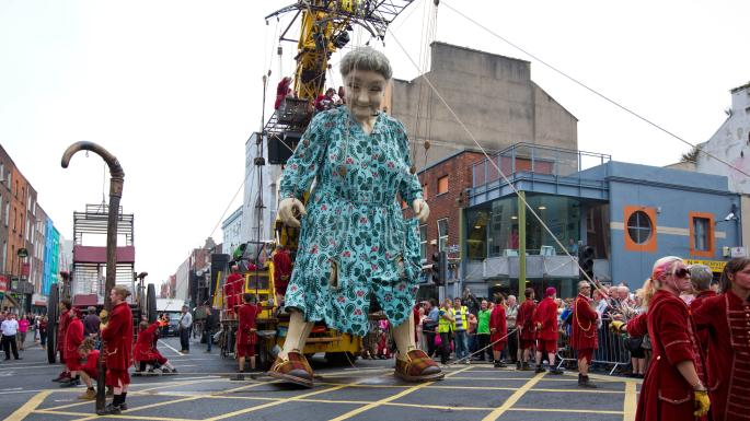 A parade during Limerick's City of Culture